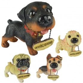 Home Decoration Decoration Resin Crafts Simulation Dog Model M Tag Dogs Welcome To Market Dog Animals