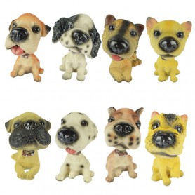 Resin Puppy Animal Model Car Interior Home Decoration Ornaments Shaking His Head Dog Zodiac Dog