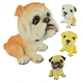 Simulation Resin Puppy Car Interior Decoration Ornaments Dog Save Piggy Bank Animal Model Photography Photography
