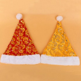 Christmas Eve Stage Performance People Dress Up Adult Children Christmas Hat Santa Claus