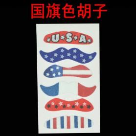 Shape Beard American Flag Pattern Beard Striped Beard Fake Beard Stage Play