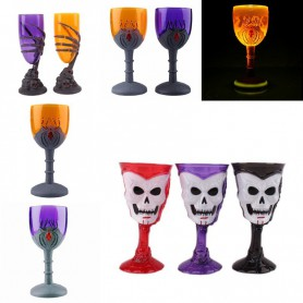 Halloween Horror Scene Show Evening Glasses Cups Candy Bowls