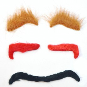 Black Eyebrows Bearded Beard Fake Eyebrows Imitation False Eyebrows Modeling
