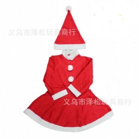 Christmas Costume Christmas Costume Christmas Dress Christmas Dress Christmas Dress Skirt Two Piece Set Nonwoven Fabric Christmas Costume