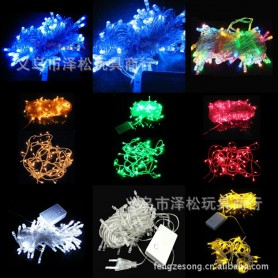 New Scene Decoration Christmas Tree Lights Led Decorative Lights Curtain Lights Color Led Lights 10 Meters 100 Head