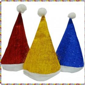 Santa Claus Hat Christmas Hat Gold Hair Long Hair Christmas Cap Christmas Headdress
