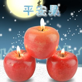 Christmas Eve Arrival Apple Peace Fruit Shape Candle Simulation Fruit Candle Light Decoration