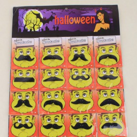 Halloween Funny Beard Game Character Dress Up Character Hu Whole Man Beard Beard All Black False Beard